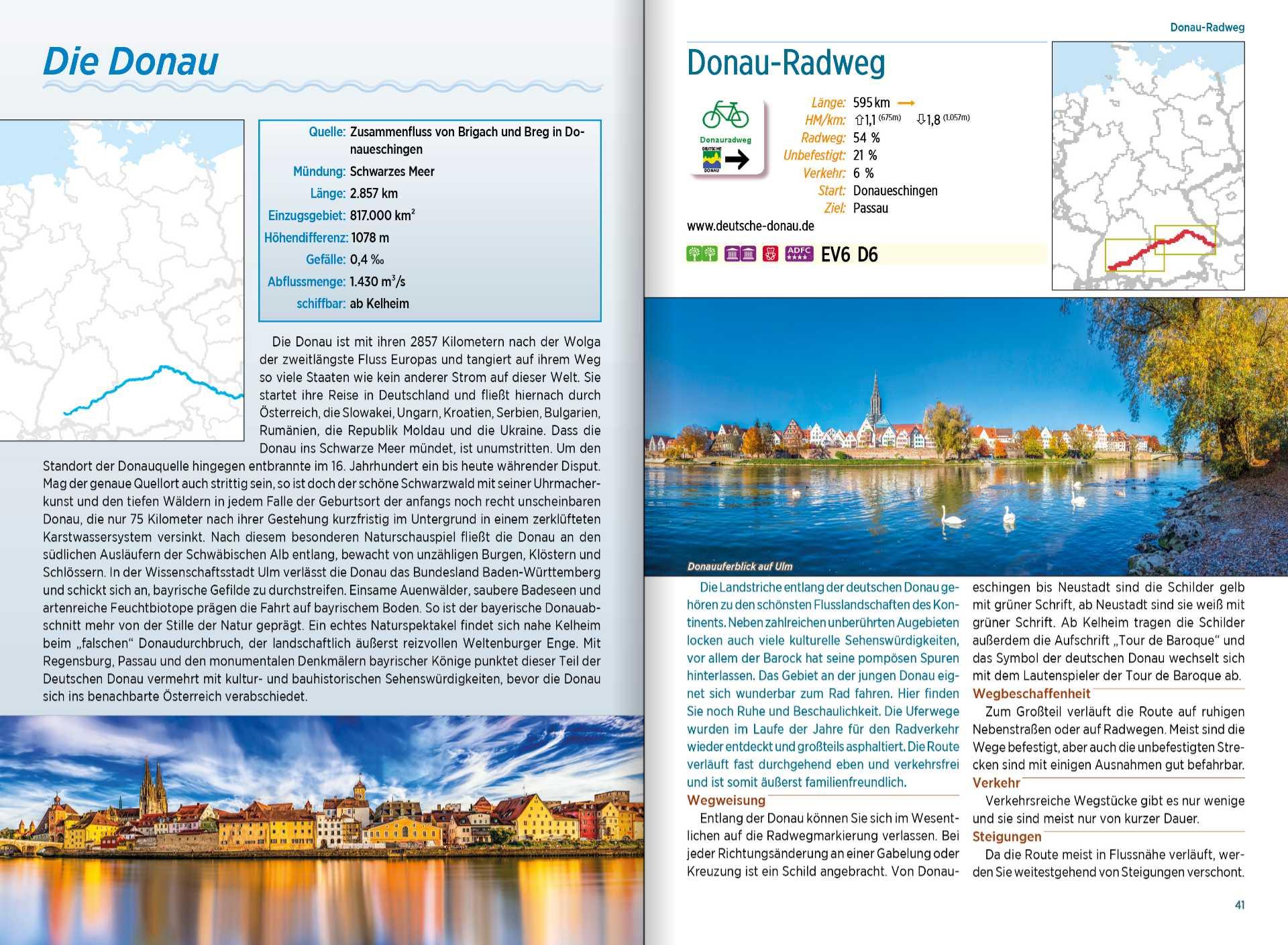 bikeline Überblickswerke - Beispielseite Flussradwege