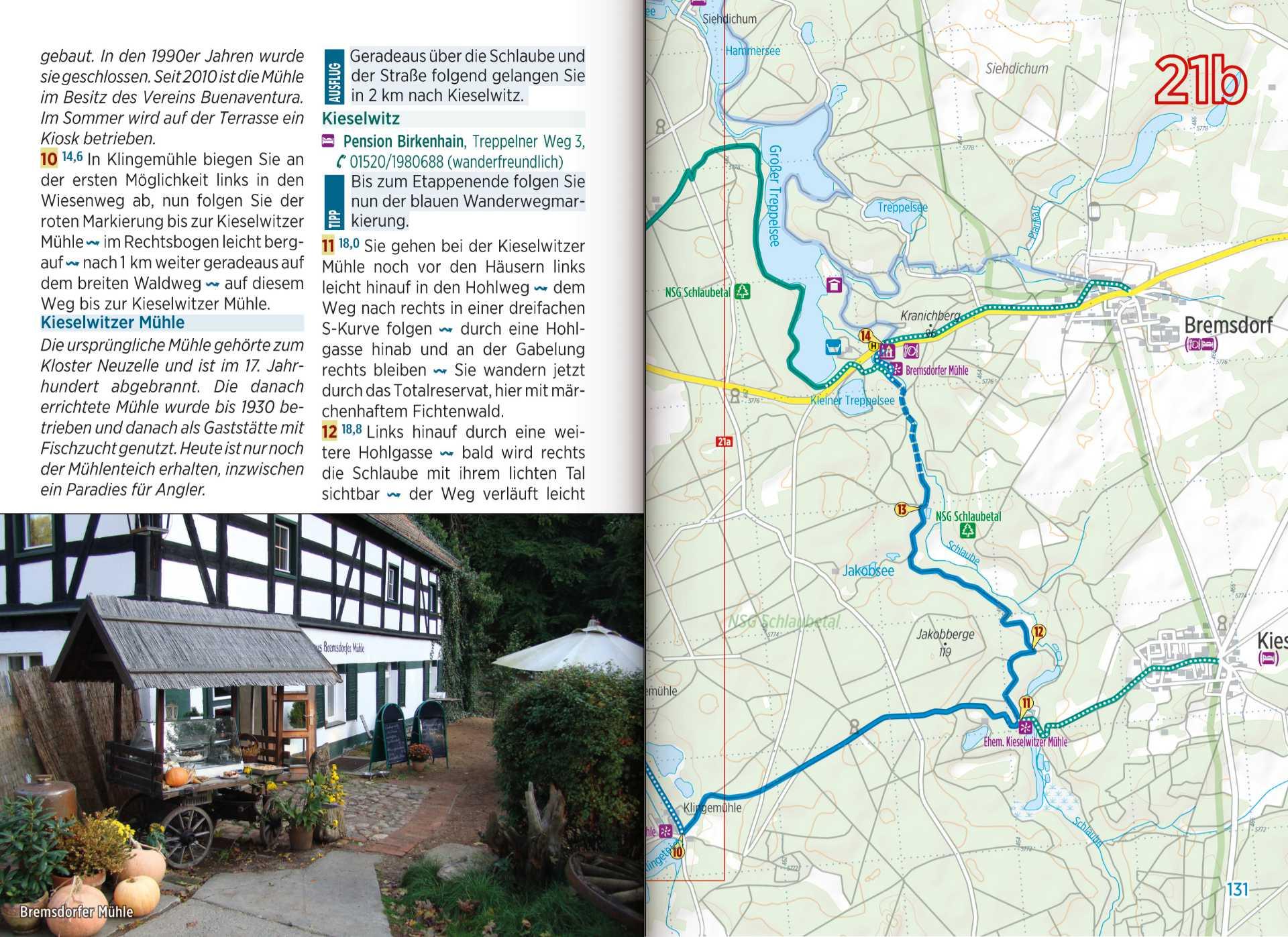 Hikeline Wanderführer - Kartenseite