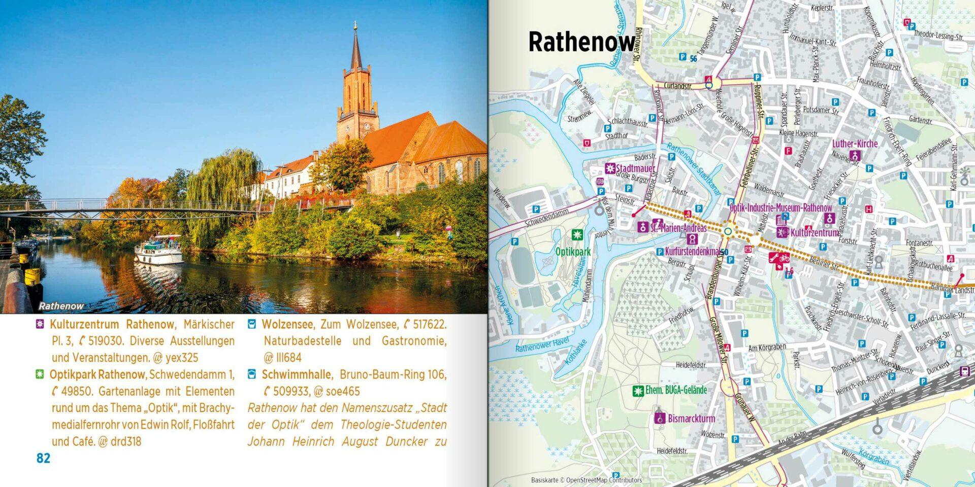 Radtourenbuch kompakt - Stadtplan
