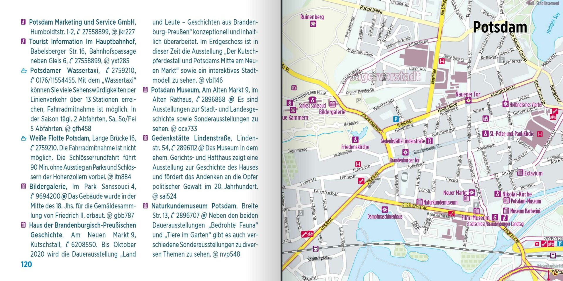 Radtourenbuch kompakt - Stadtplan Potsdam