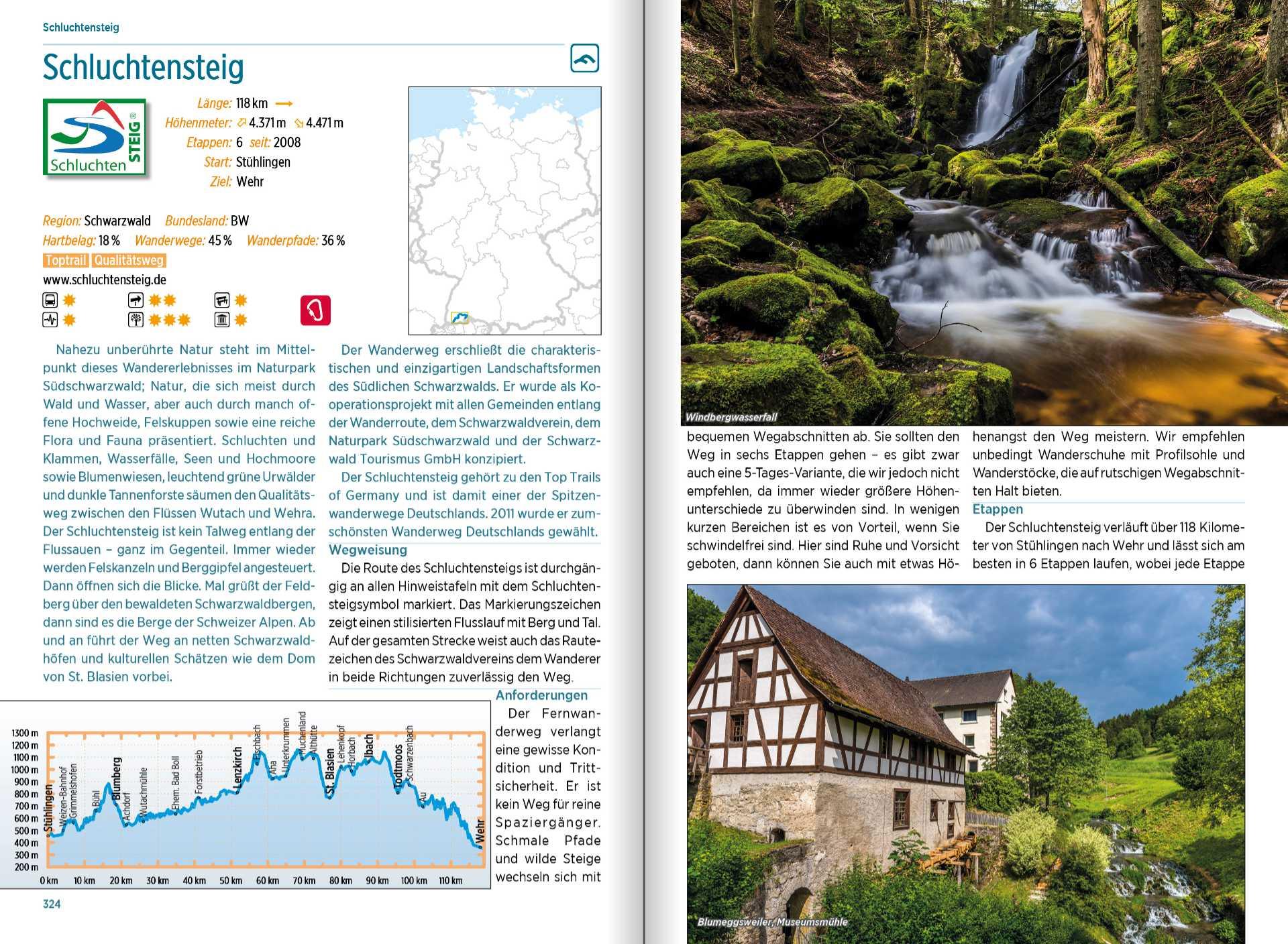 Hikeline Überblickswerk - Fernwanderwege Deutschland - Tour
