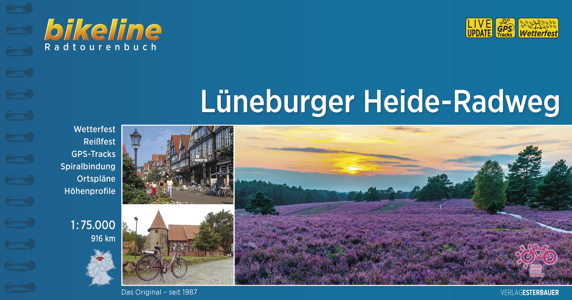 Foto vom Lüneburger Heide-Radweg