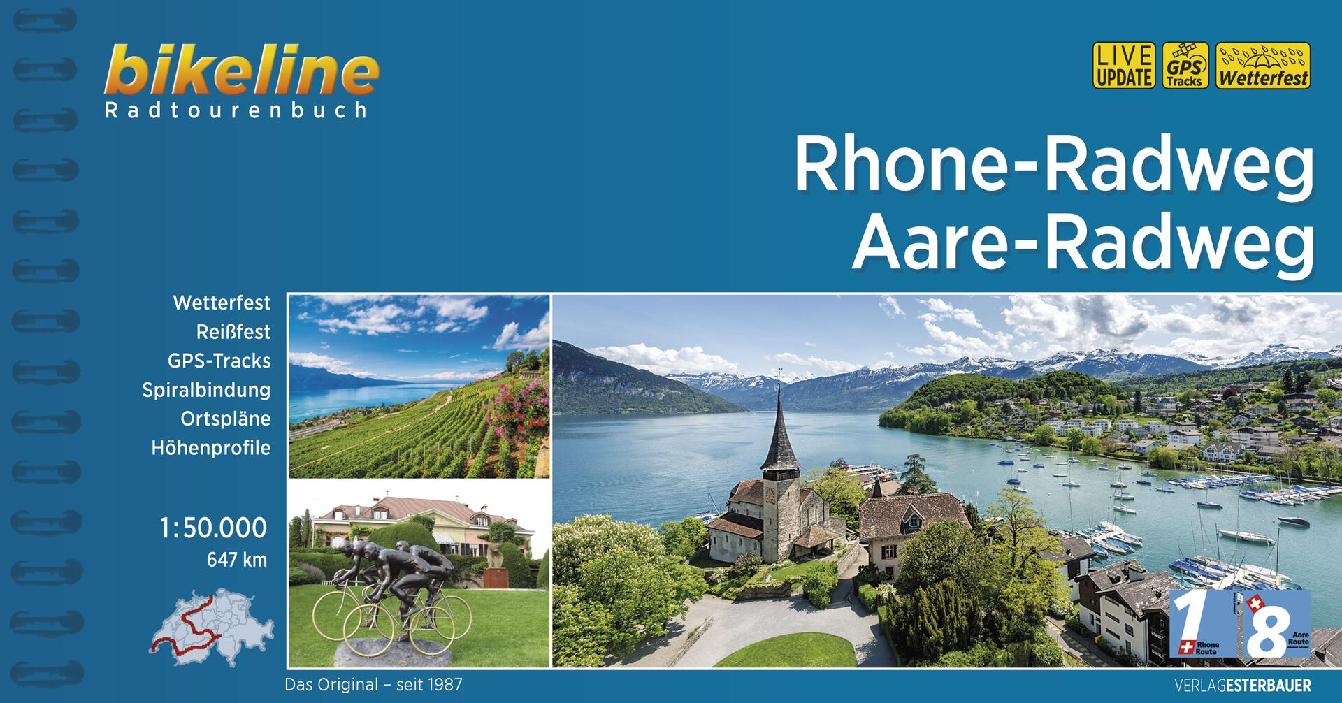 Foto vom Rhone-Radweg • Aare-Radweg